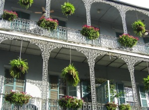 One of the many beautiful balconies in the French Quarter in New Orleans
