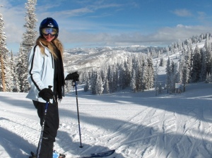 Jenni skiing, Steamboat Springs