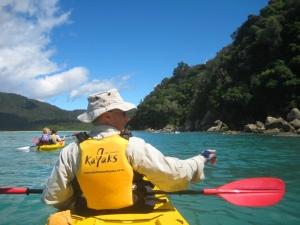 Abel Tasman - Geoff kayaking