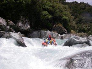 Rafting, Whataroa River, South Island
