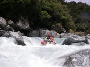 Rafting, Whataroa River, South Island
