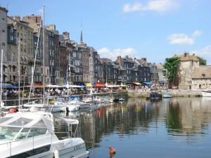 The beautiful harbor at Honfleur!