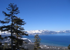 Lake Tahoe from ski-lift