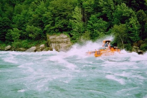 Jet boating at Niagara - August 2000