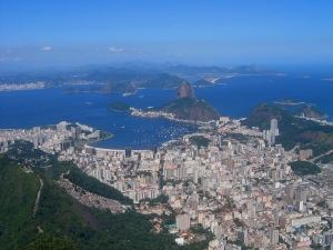 View from Corcovado over Rio de Janeiro and Sugar Loaf