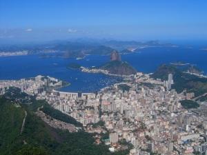 View from Corcovado over Rio de Janeiro and Sugar Loaf