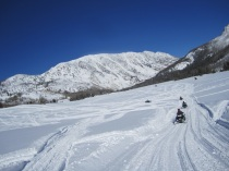 Snowmobiling in the Routt National Forest