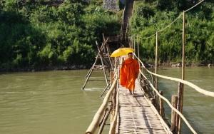 Bamboo Bridge over the Nam Khan River